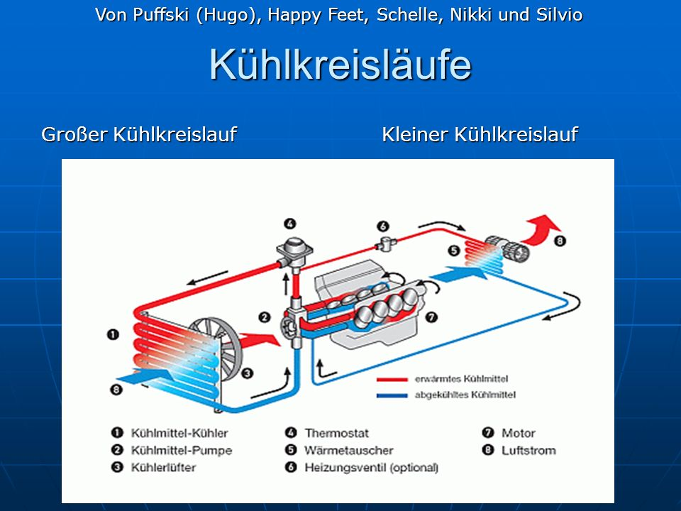 Kühlkreisläufe Großer Kühlkreislauf Kleiner Kühlkreislauf