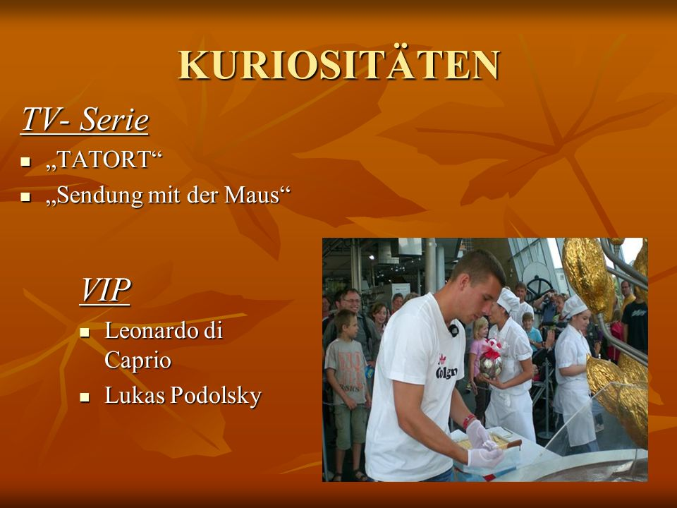 "KURIOSITÄTEN TV- Serie VIP ""TATORT ""Sendung mit der Maus"