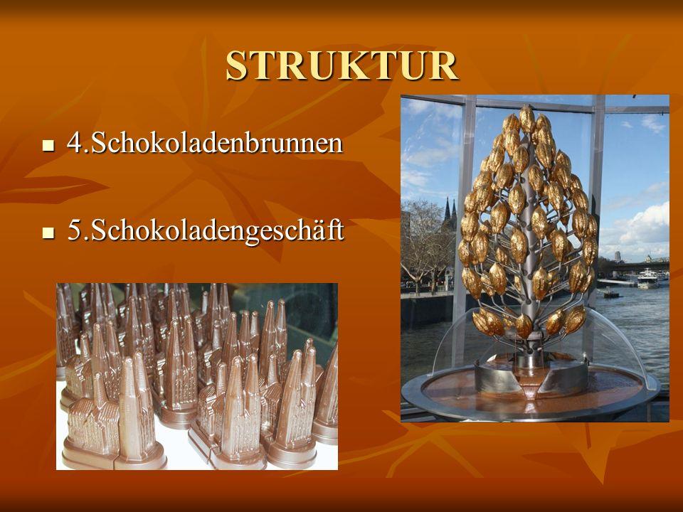 STRUKTUR 4.Schokoladenbrunnen 5.Schokoladengeschäft