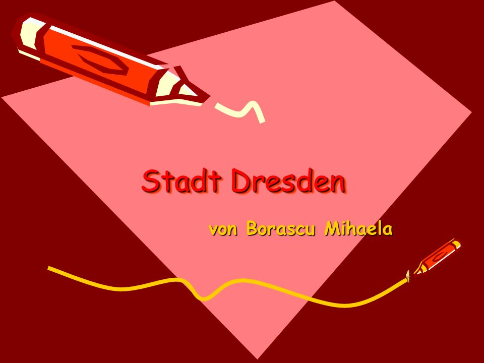 Stadt Dresden von Borascu Mihaela