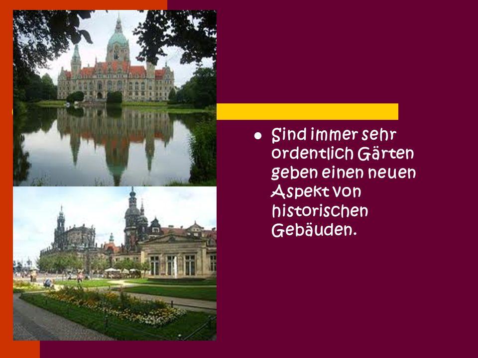 Sind immer sehr ordentlich Gärten geben einen neuen Aspekt von historischen Gebäuden.