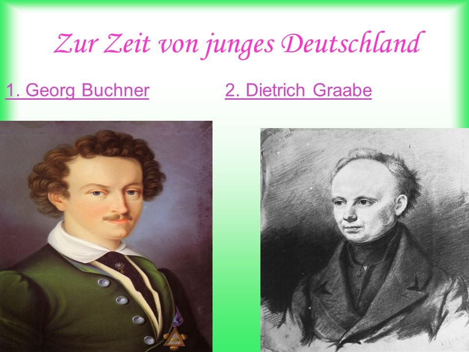 Zur Zeit von junges Deutschland