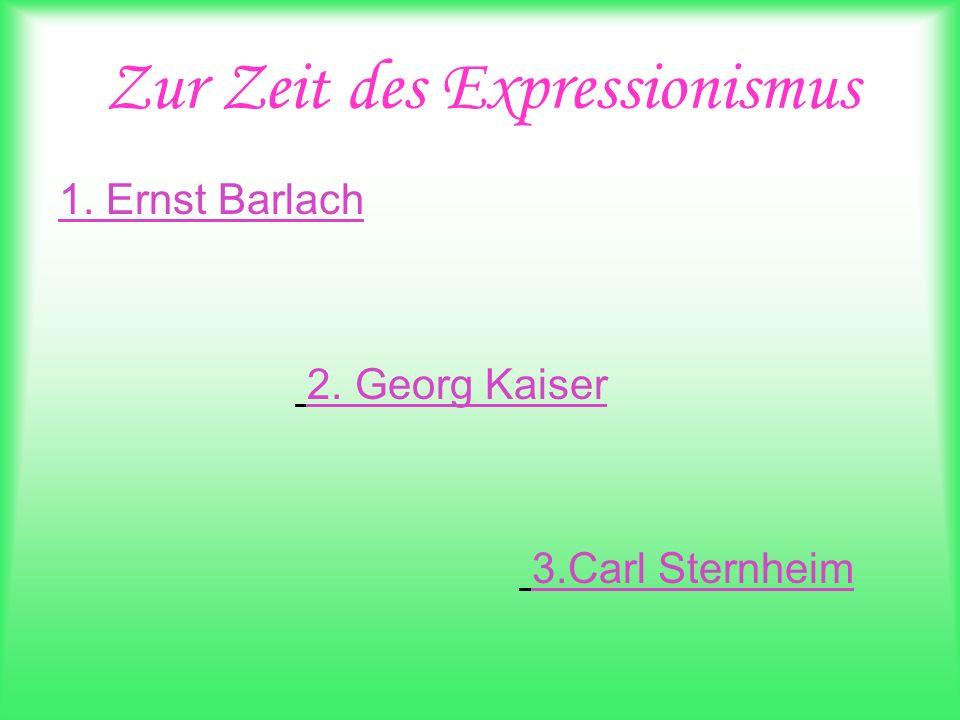 Zur Zeit des Expressionismus