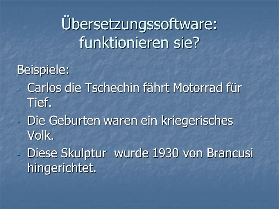 Übersetzungssoftware: funktionieren sie