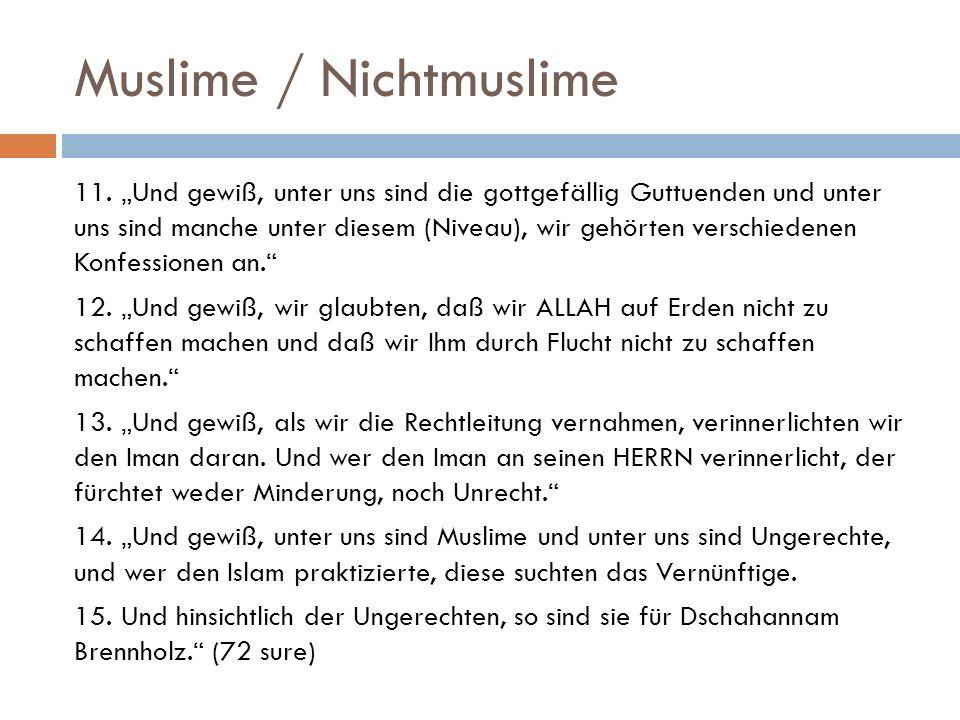 Muslime / Nichtmuslime