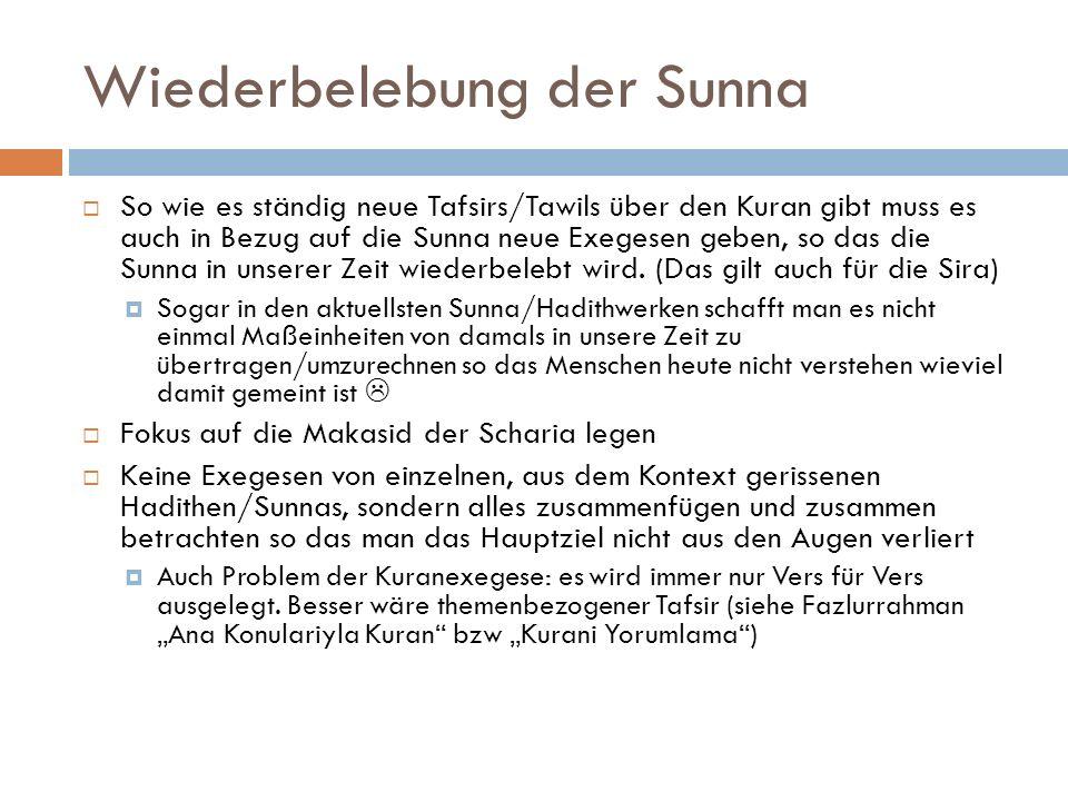 Wiederbelebung der Sunna
