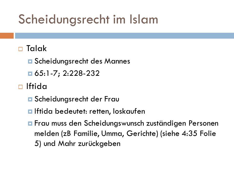 Scheidungsrecht im Islam