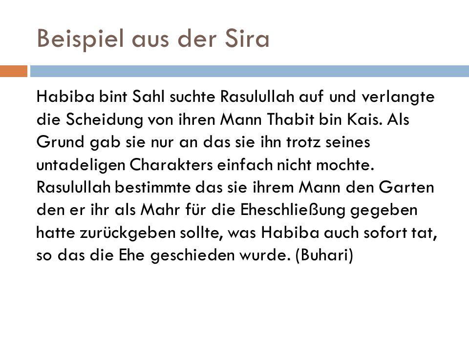 Beispiel aus der Sira