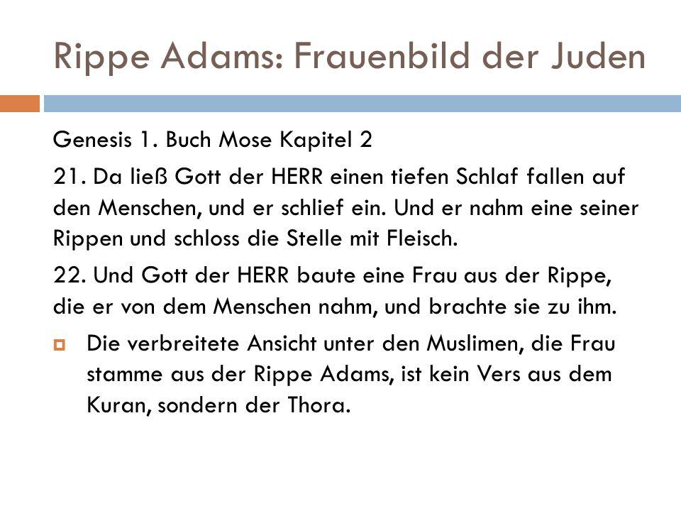 Rippe Adams: Frauenbild der Juden