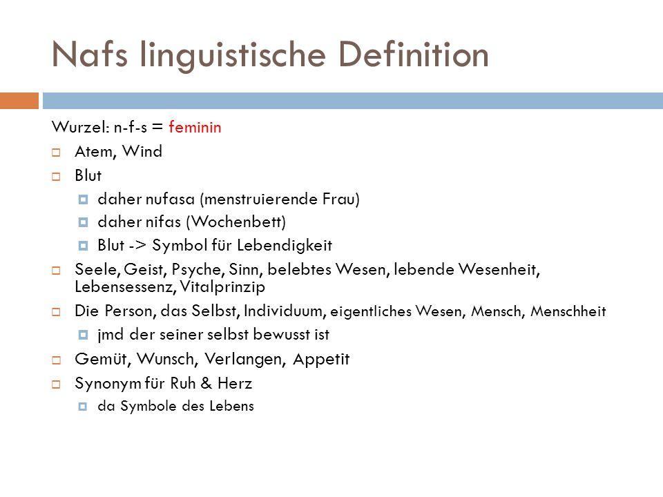 Nafs linguistische Definition