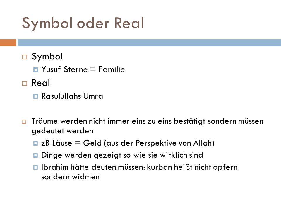 Symbol oder Real Symbol Real Yusuf Sterne = Familie Rasulullahs Umra