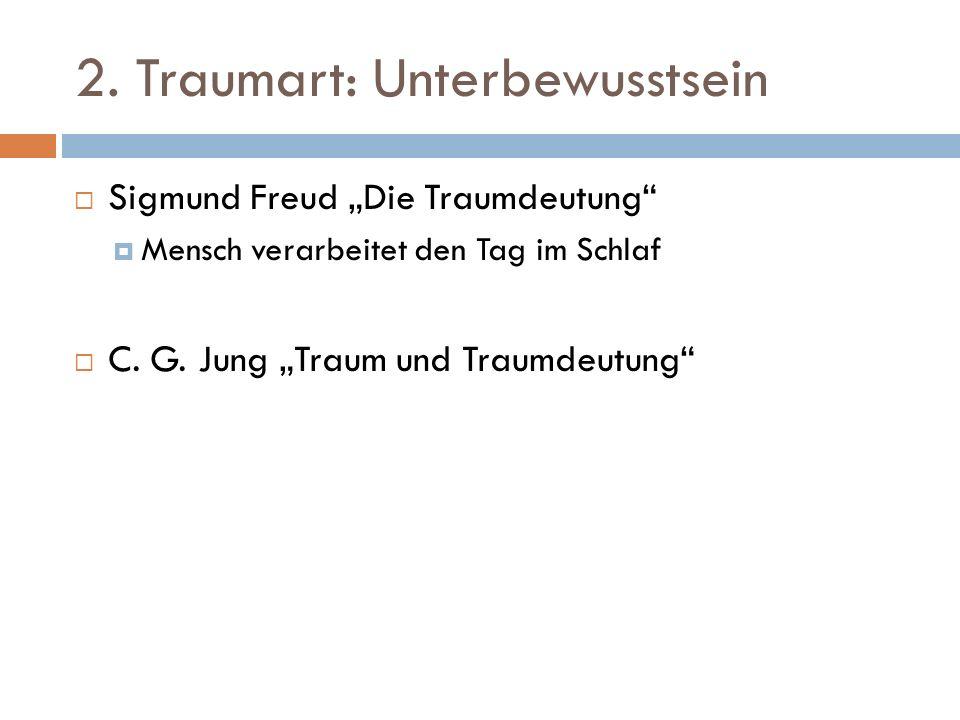 2. Traumart: Unterbewusstsein