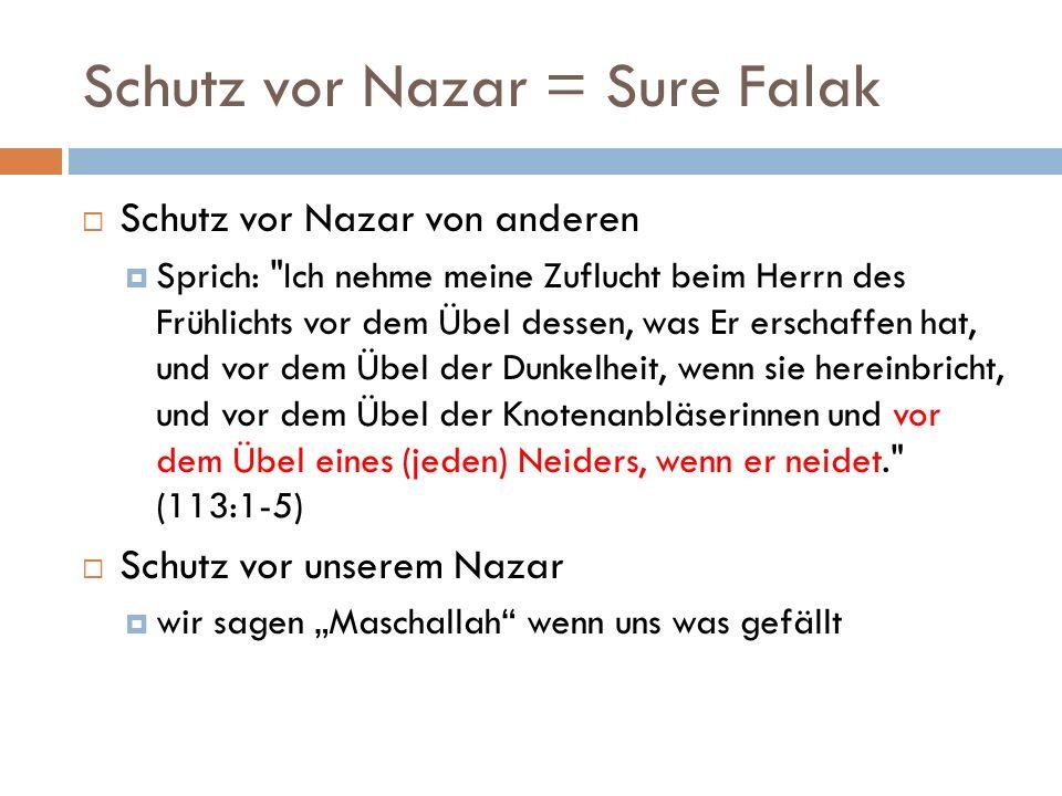 Schutz vor Nazar = Sure Falak