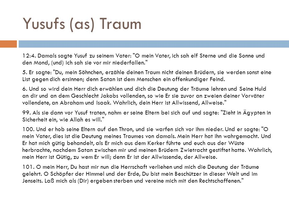 Yusufs (as) Traum