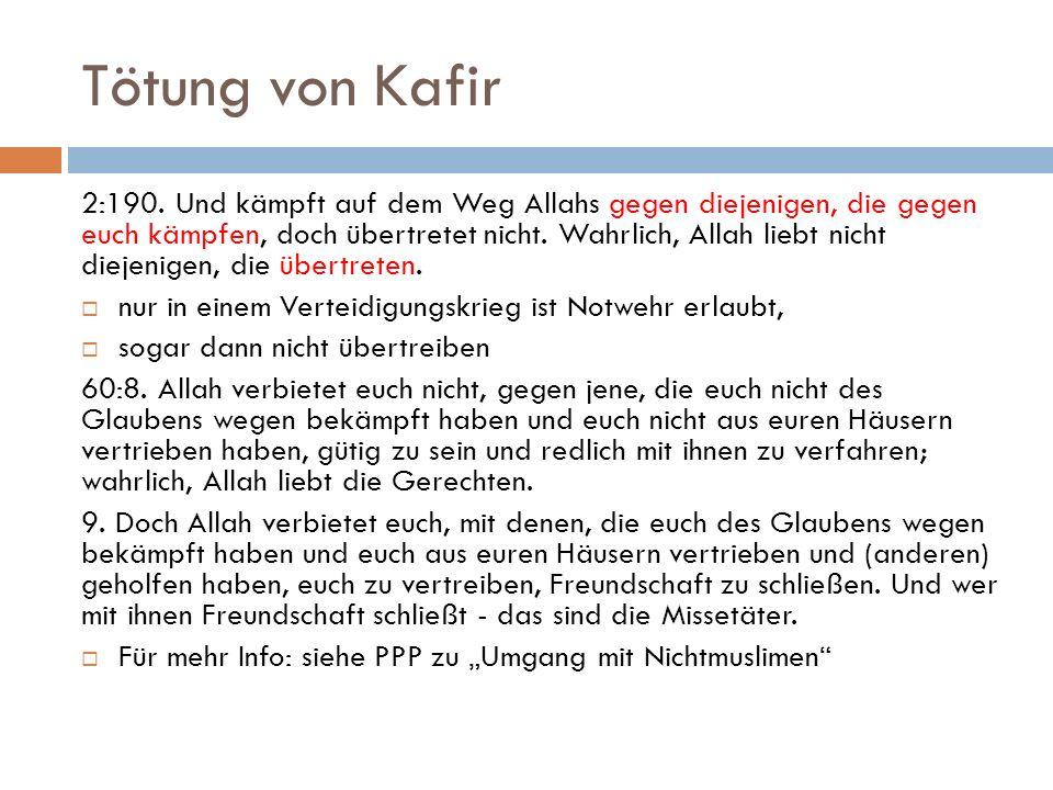 Tötung von Kafir
