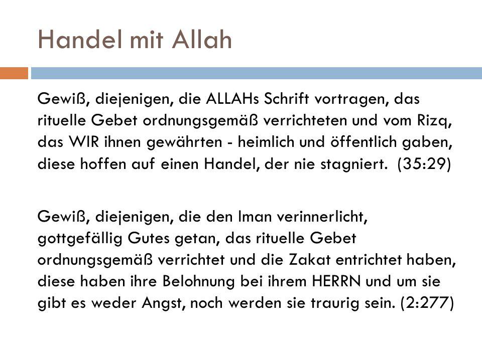 Handel mit Allah