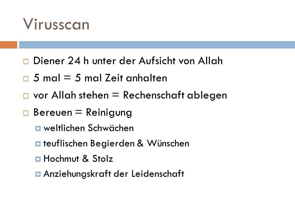 Virusscan Diener 24 h unter der Aufsicht von Allah