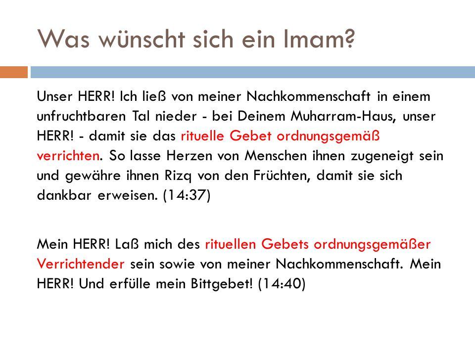 Was wünscht sich ein Imam