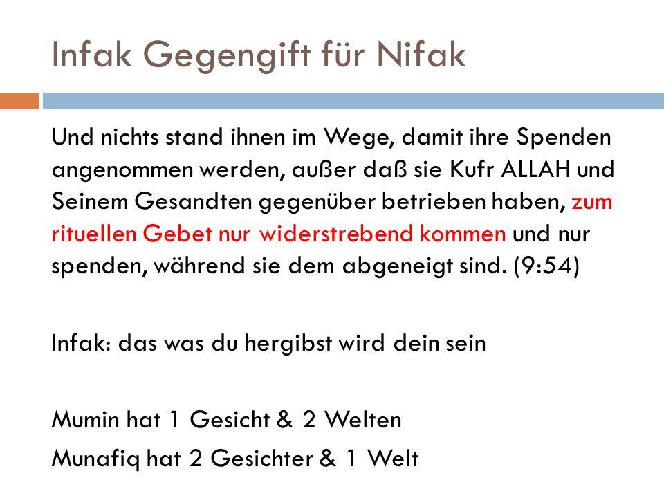 Infak Gegengift für Nifak