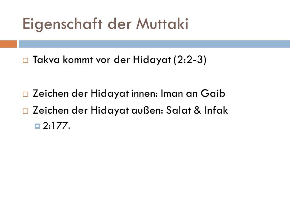 Eigenschaft der Muttaki
