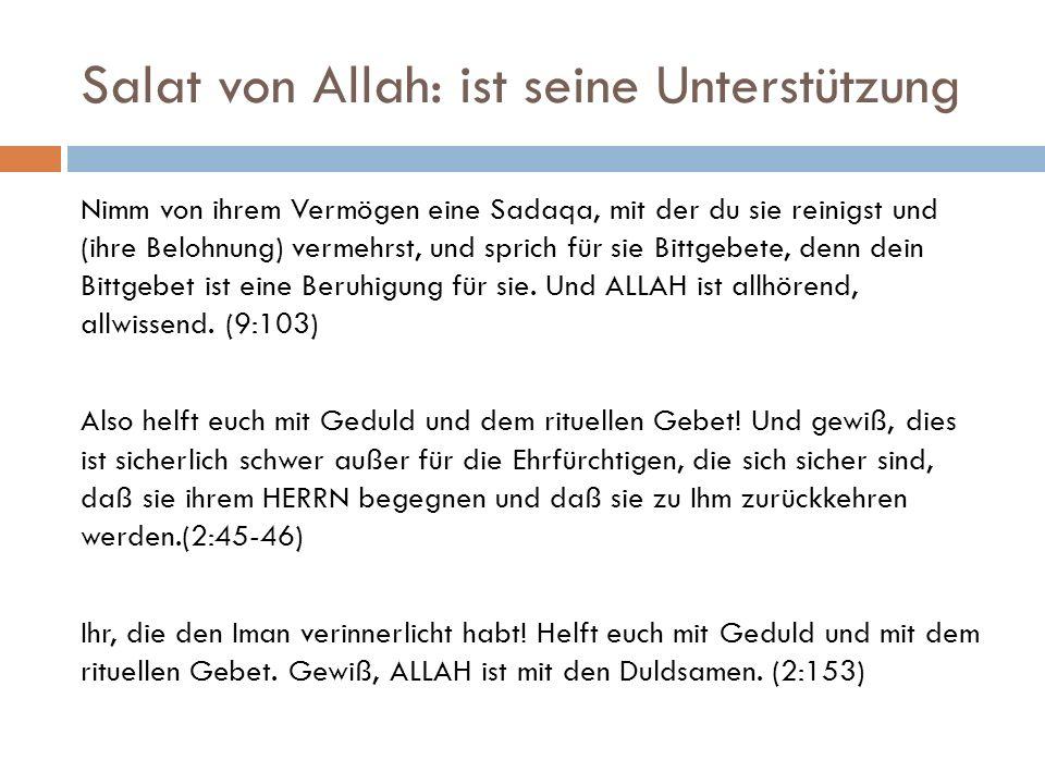 Salat von Allah: ist seine Unterstützung