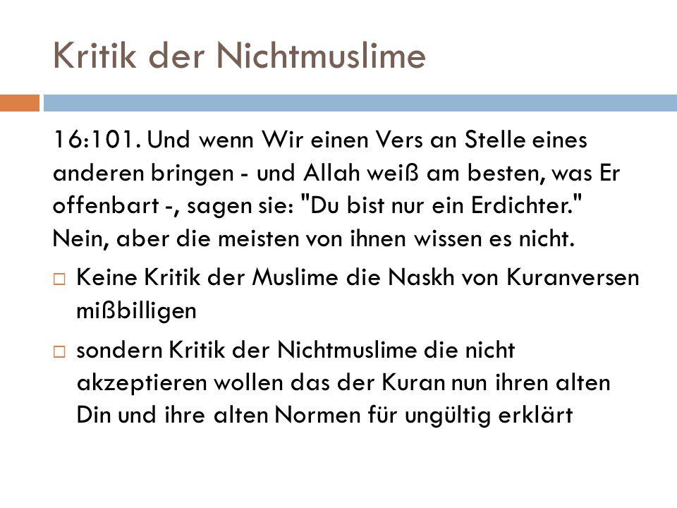 Kritik der Nichtmuslime