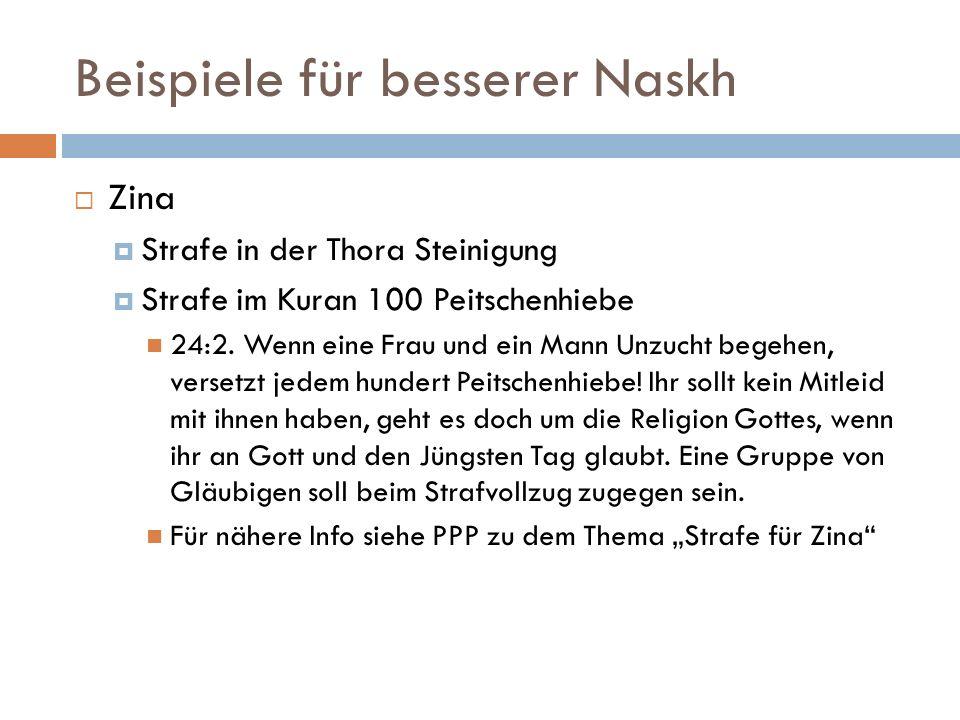 Beispiele für besserer Naskh