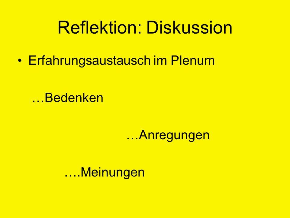 Reflektion: Diskussion