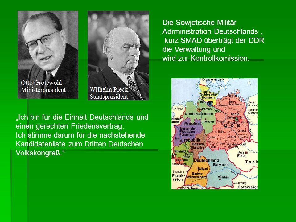 Die Sowjetische Militär Adrministration Deutschlands ,