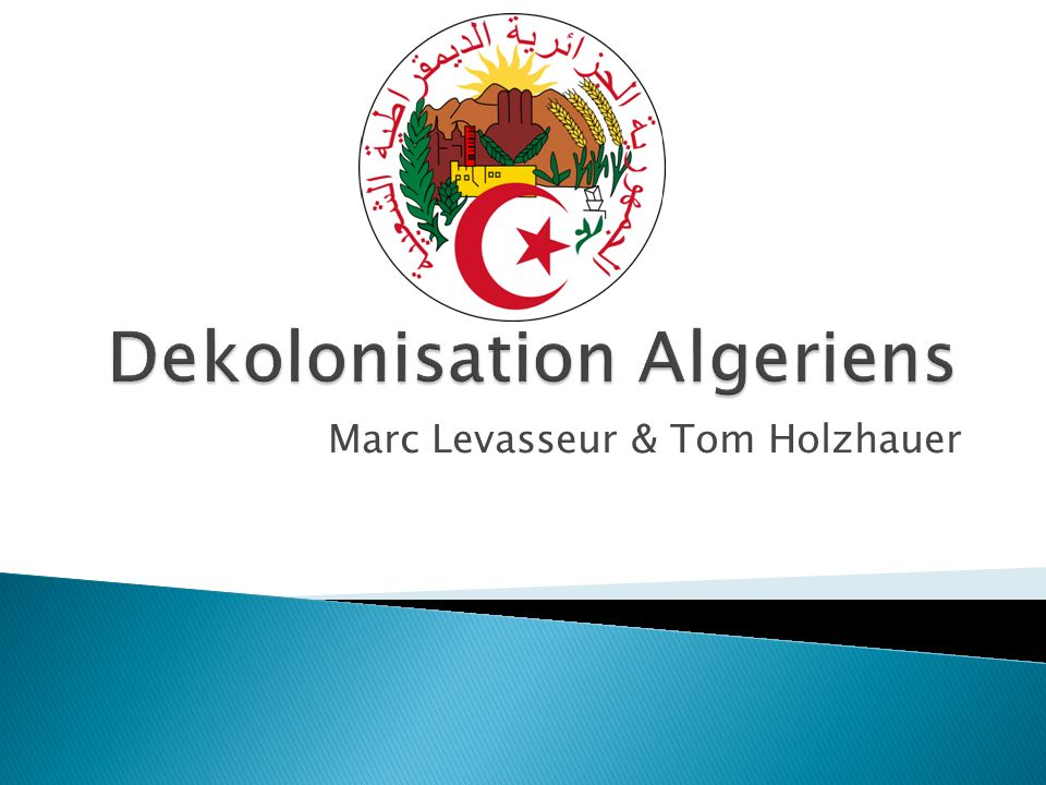 Dekolonisation Algeriens