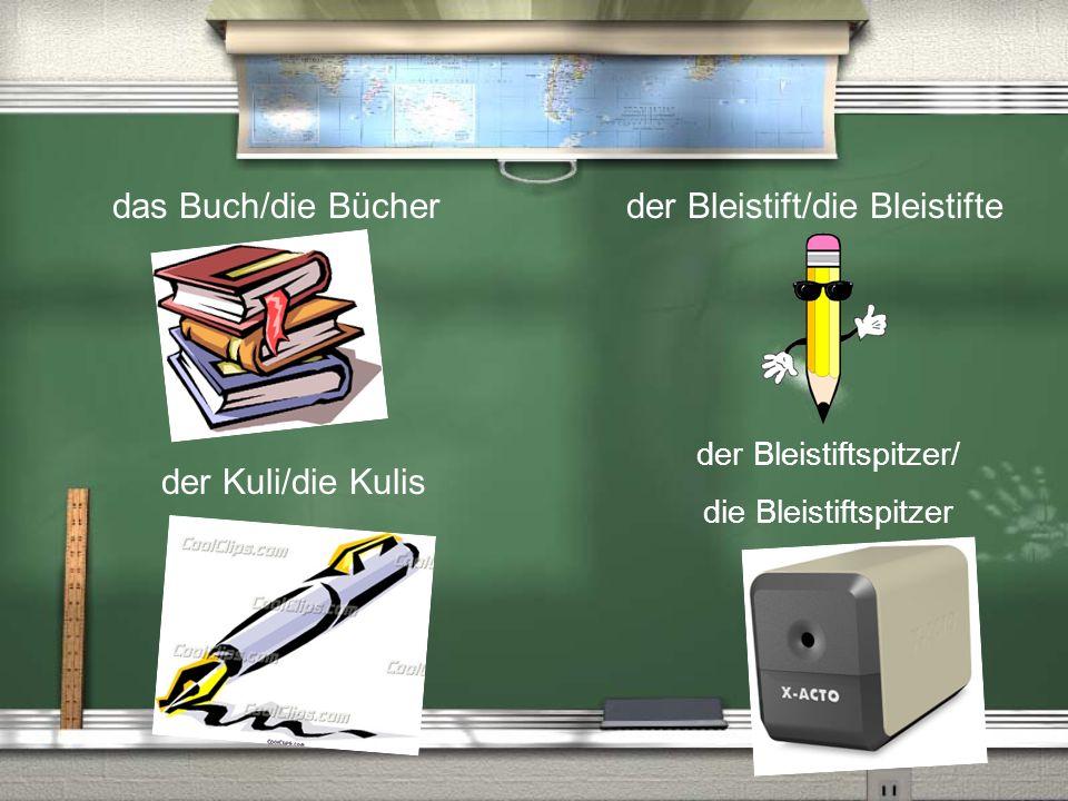 der Bleistift/die Bleistifte