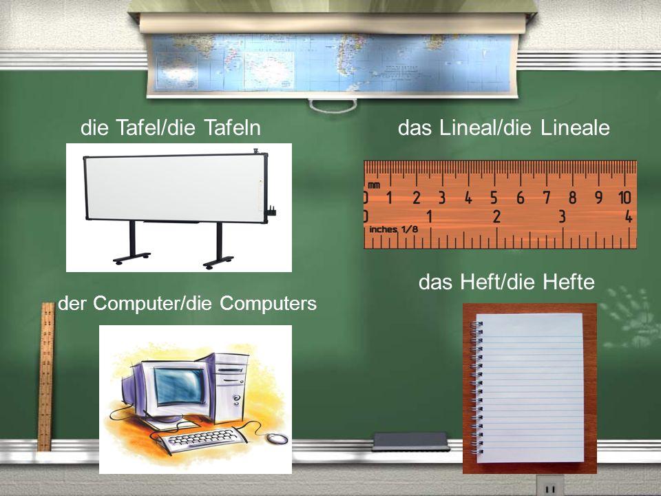 das Lineal/die Lineale