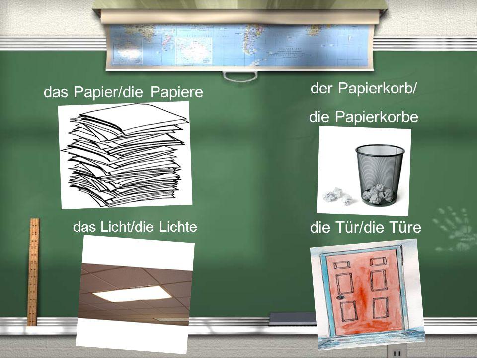 das Papier/die Papiere