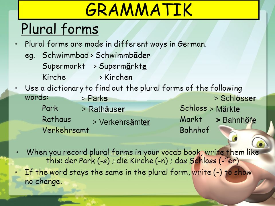 GRAMMATIK Plural forms