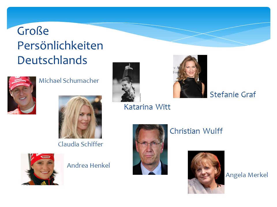 Große Persönlichkeiten Deutschlands