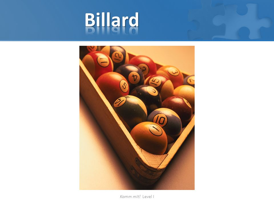 Billard Komm mit! Level I