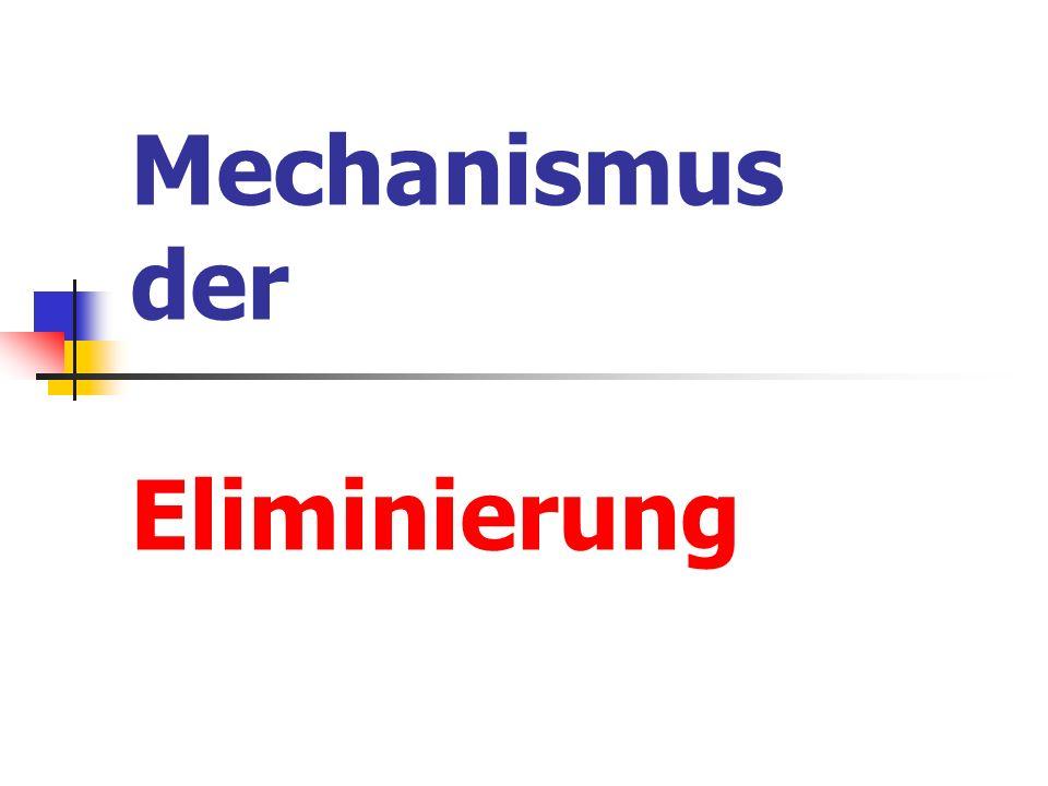 Mechanismus der Eliminierung