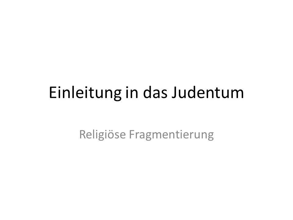 Einleitung in das Judentum