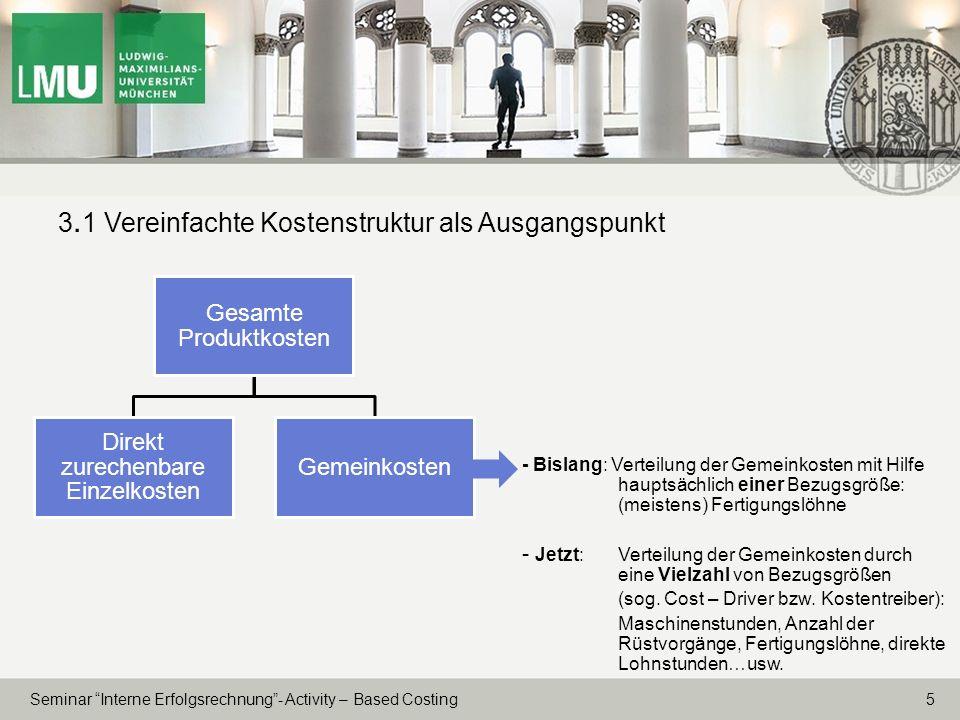 3.1 Vereinfachte Kostenstruktur als Ausgangspunkt