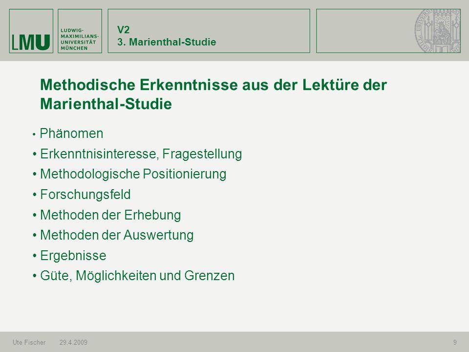 Methodische Erkenntnisse aus der Lektüre der Marienthal-Studie