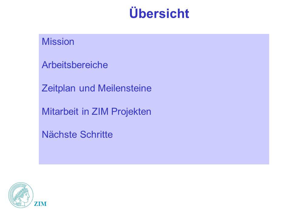 Übersicht Mission Arbeitsbereiche Zeitplan und Meilensteine