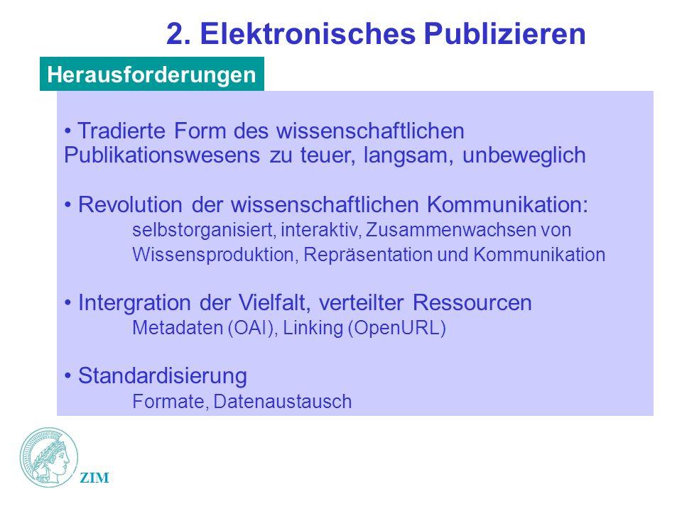 2. Elektronisches Publizieren