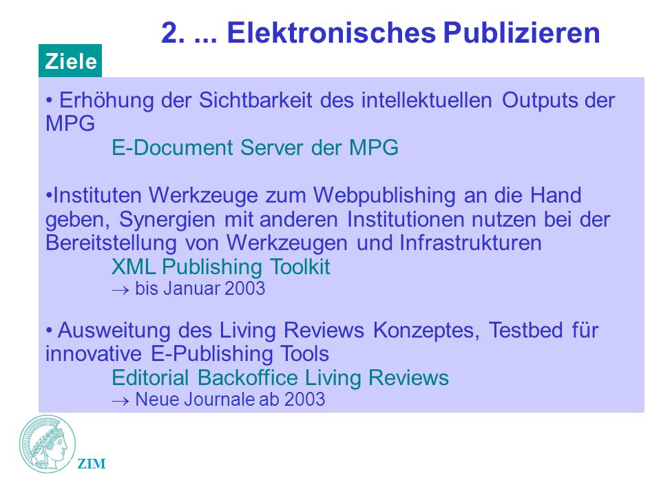 2. ... Elektronisches Publizieren