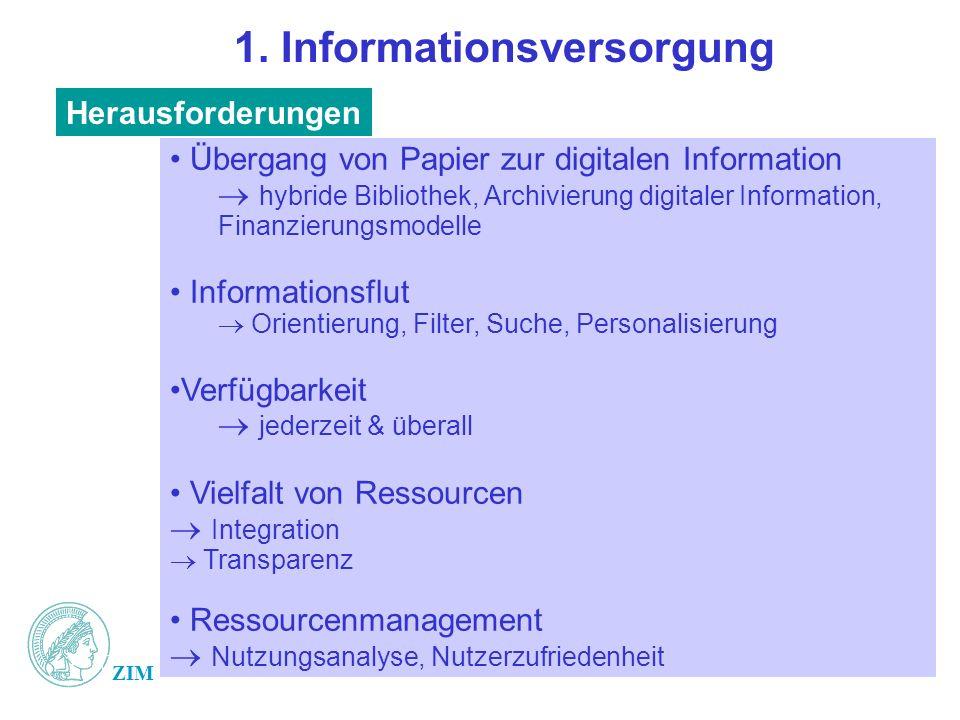 1. Informationsversorgung