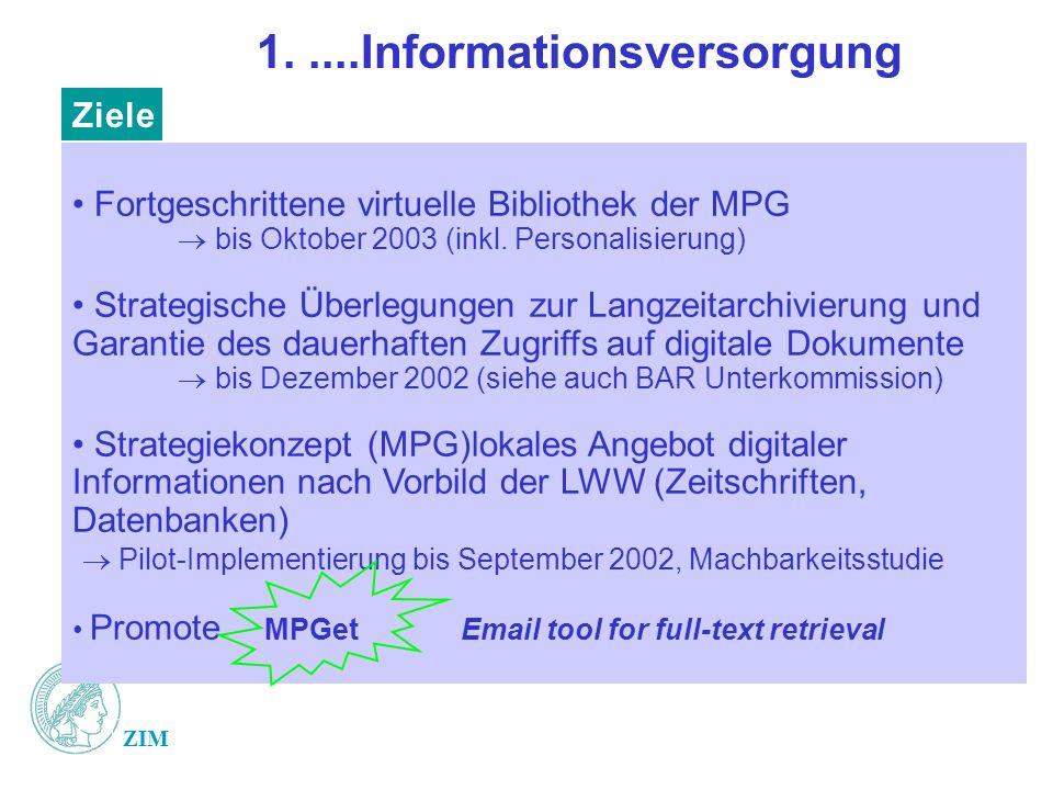 1. ....Informationsversorgung