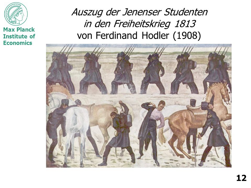 Auszug der Jenenser Studenten in den Freiheitskrieg 1813 von Ferdinand Hodler (1908)