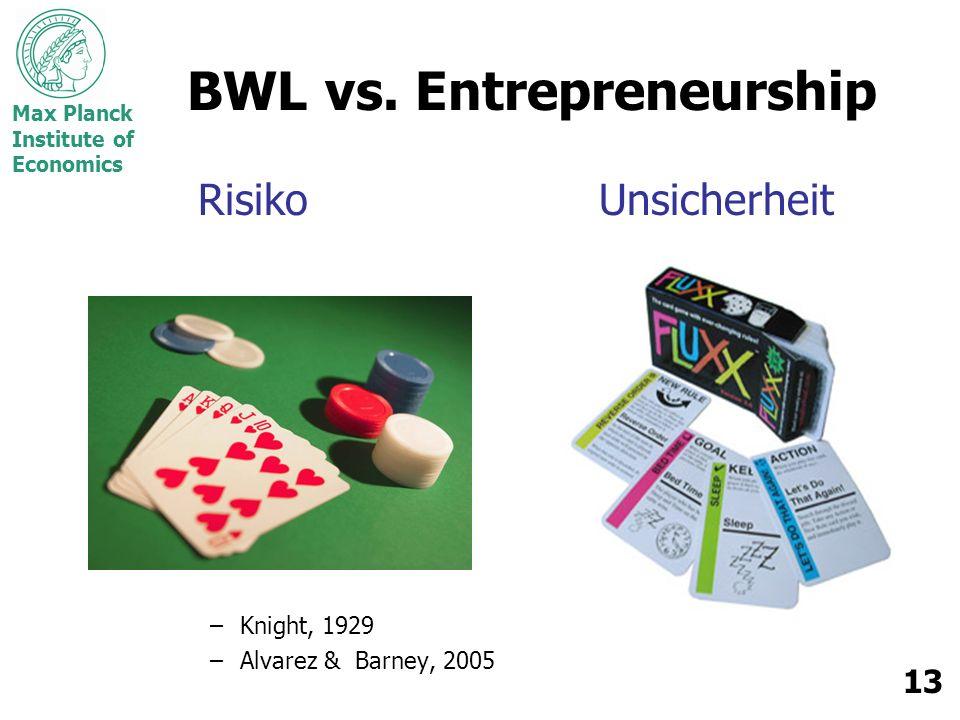 BWL vs. Entrepreneurship