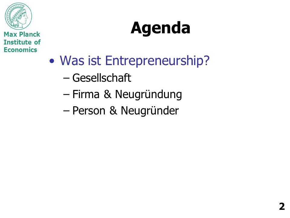 Agenda Was ist Entrepreneurship Gesellschaft Firma & Neugründung