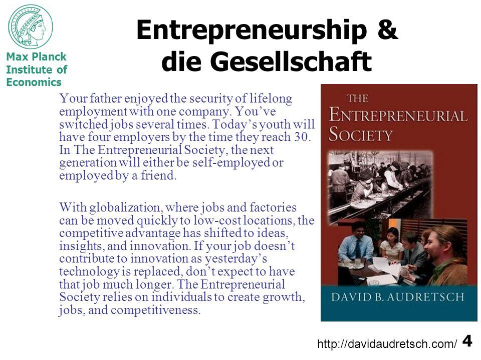 Entrepreneurship & die Gesellschaft
