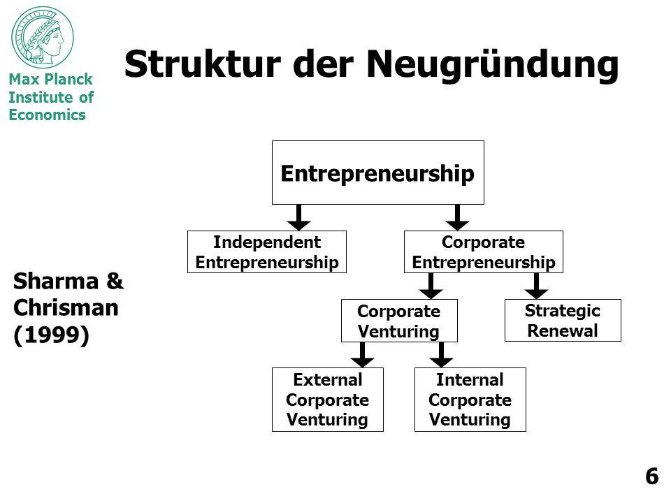 Struktur der Neugründung